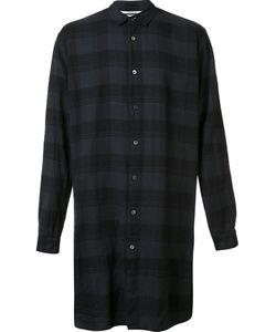 Robert Geller | The Long Plaid Shirt Mens Size 46 Cotton