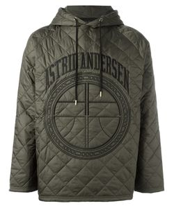 Astrid Andersen | Quilted Hoodie Mens Size Large Polyamide/Polyester