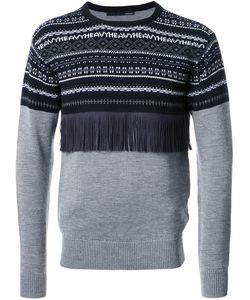 Yoshio Kubo | Fringe Detail Embroidered Sweater Mens Size 2 Nylon/Polyester/Wool