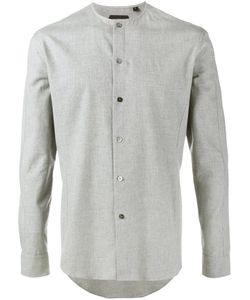 Curieux | Collarless Shirt Mens Size 16 Cotton