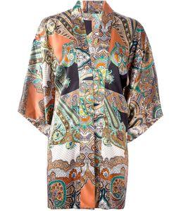 Ermanno Gallamini | Abstract Print Blouse Womens Size Medium Silk