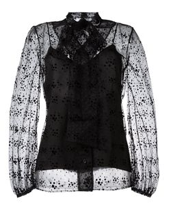 Racil | Virgo Tie Neck Sheer Blouse Womens Size 38 Polyamide/Viscose