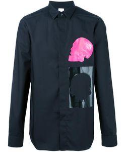 Cy Choi | Skull Print Shirt Mens Size 52 Cotton