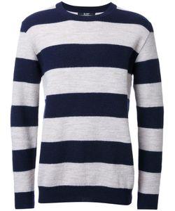 Hl Heddie Lovu | Striped Jumper Mens Size Large Wool