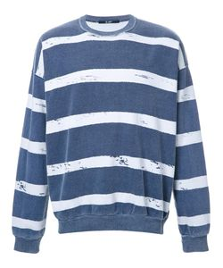 Hl Heddie Lovu | Striped Sweatshirt Mens Size Medium Cotton
