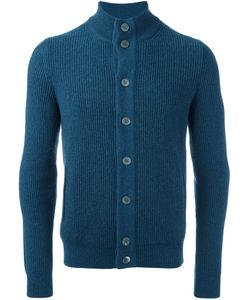 Barba | Ribbed High Neck Cardigan Mens Size 54 Cashmere