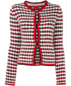 Moncler Gamme Rouge   Jacquard Button Down Cardigan Womens Size 42