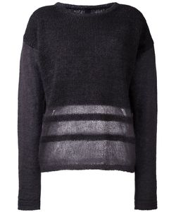 Ilaria Nistri | Stripe Detailing Sweater Womens Size Medium Silk/Mohair/Virgin Wool/Polyamide