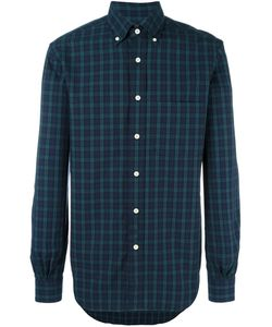 Mp Massimo Piombo | Button Down Collar Black Watch Pattern Shirt Mens