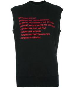 Yang Li | Raw Edge Sleeveless Sweatshirt Womens Size 42 Cotton