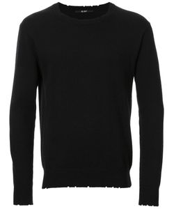 Hl Heddie Lovu | Distressed Jumper Mens Size Large Cotton/Rayon/Wool/Nylon