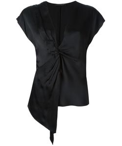 Catherine Quin | Jeanneret Knot Detail Top Womens Size 8 Silk
