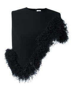 Comme Des Garçons Noir Kei Ninomiya | Asymmetric Ruffle Hem Cropped Top