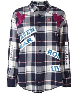 Sold Out Frvr | Printed Plaid Shirt Womens Size Large Cotton/Polyester/Other