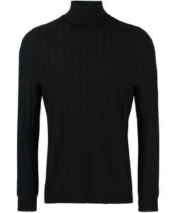Lucio Vanotti | Ribbed Turtleneck Jumper Mens Size 5 Virgin Wool