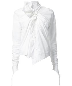 Aganovich | Bow Detail Blouse Womens Size 36 Cotton/Spandex/Elastane/Viscose