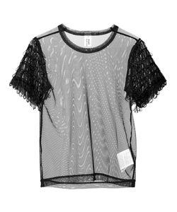 Comme Des Garçons Noir Kei Ninomiya | Loop Fringe Sheer T-Shirt Womens