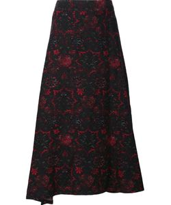 Y's   Abstract Print Full Skirt Womens Size 2 Cotton