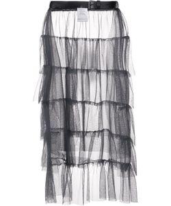 Area Di Barbara Bologna | Ruffled Sheer Skirt Womens Polyamide
