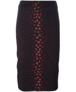 Samantha Sung | Jacquard Pencil Skirt Womens Size Xl Wool/Silk