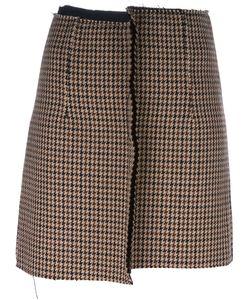 Yang Li | Pied-De-Poule Mismatched Mini Skirt Womens Size 38 Virgin
