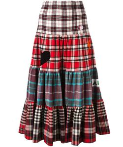 Sold Out Frvr | Checked Maxi Skirt Womens Size Small Cotton/Polyester/Other Fibers