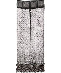 Sophie Theallet | Hand Embroidered Crystal Lace Skirt Womens Size 36