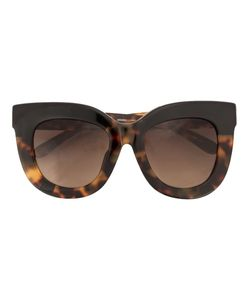 Linda Farrow Gallery   Amber Tortoise Shell Sunglasses Womens Acetate/Glass