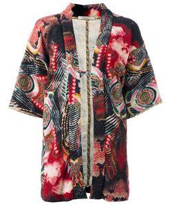Ermanno Gallamini | Floral Print Kimono Womens Size Small Silk/Wool