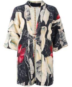 Ermanno Gallamini | Floral Print Kimono Womens Size Small Wool/Silk