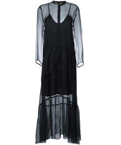 Petar Petrov | Sheer Polka Dot Dress Womens Size 38 Silk/Cupro/Sheep
