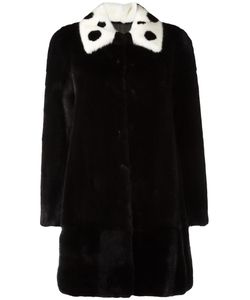 Blancha | Three-Quarters Sleeve Coat Womens Size 44 Mink Fur/Viscose