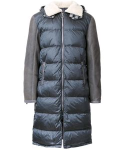 Tim Coppens | Panelled Padded Coat Mens Size Large Lamb Skin/Polyamide