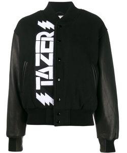 Ashley Williams   Tazer Bomber Womens Size Xs Virgin Wool/Nylon/Leather/Acetate