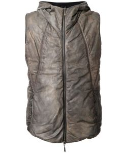 Masnada | Padded Gilet Mens Size 52 Calf Leather