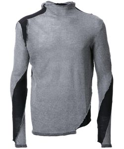 Masnada | Patched Jumper Mens Size Large Merino