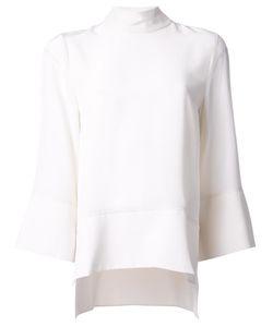 Studio Nicholson | Cropped Sleeves Blouse Womens Size 1 Silk