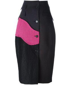 Yang Li | Panelled Coat Skirt Womens Size 40 Viscose/Wool