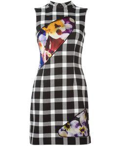 Christopher Kane | Insert Check Mini-Dress Womens Size 42 Polyamide/Polyester/Wool/Silk