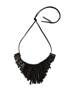 Monies | Square Rod Tassel Necklace Womens
