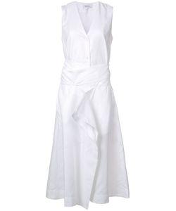 Rodebjer   V-Neck Sleeveless Midi Dress Womens Size Medium Lyocell/Polyester/Spandex/Elastane