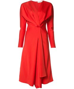 Victoria Beckham | V-Neck Fla Dress Womens Size 14 Acetate/Viscose