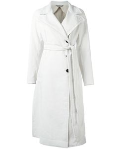 Sportmax | Leather Effect Trench Womens Size 40 Linen/Flax/Cotton/Ramie/Polyester