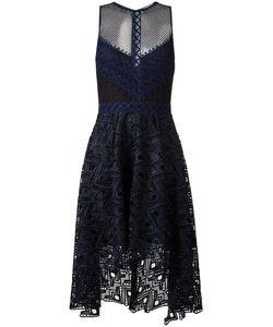 Jonathan Simkhai | Cut-Off Detailing Sheer Dress Womens Size 6 Polyester/Spandex/Elastane/Silk