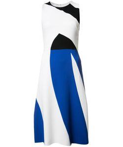 Narciso Rodriguez | Triple-Tone Dress Womens Size 44 Spandex/Elastane/Silk/Viscose