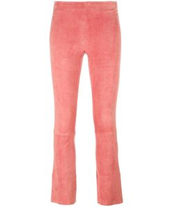 Stouls | Maxime Trousers Womens Size Xs Cotton/Spandex/Elastane/Lyocell/Lamb Nubuck Leather