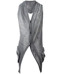 Masnada | Back Slits Cardigan Mens Size Medium Linen/Flax/Viscose