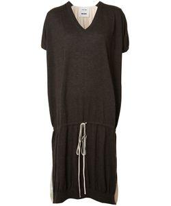 Uma Wang | Drawstring T-Shirt Dress Womens Size Medium Cashmere/Silk