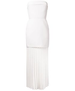 Dion Lee | Linear Pleated Strapless Dress Womens Size 12 Polyester