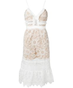Self-Portrait | Lace Fla Dress Womens Size 14 Polyester/Spandex/Elastane